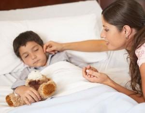 Trẻ bị sốt về đêm 1
